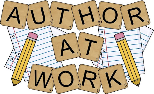 Picture stating the words Author At Work