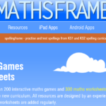 Picture of mathsframe webpage