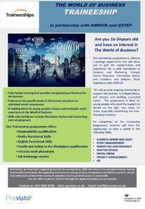 Image of cybersecurity traineeship flyer