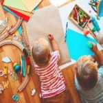 Picture of young children drawing